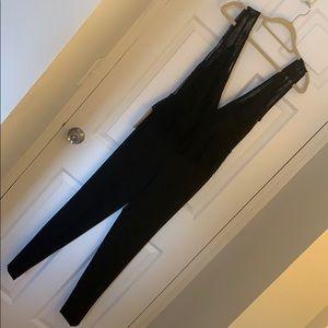 Zara plunge neck lace jumpsuit